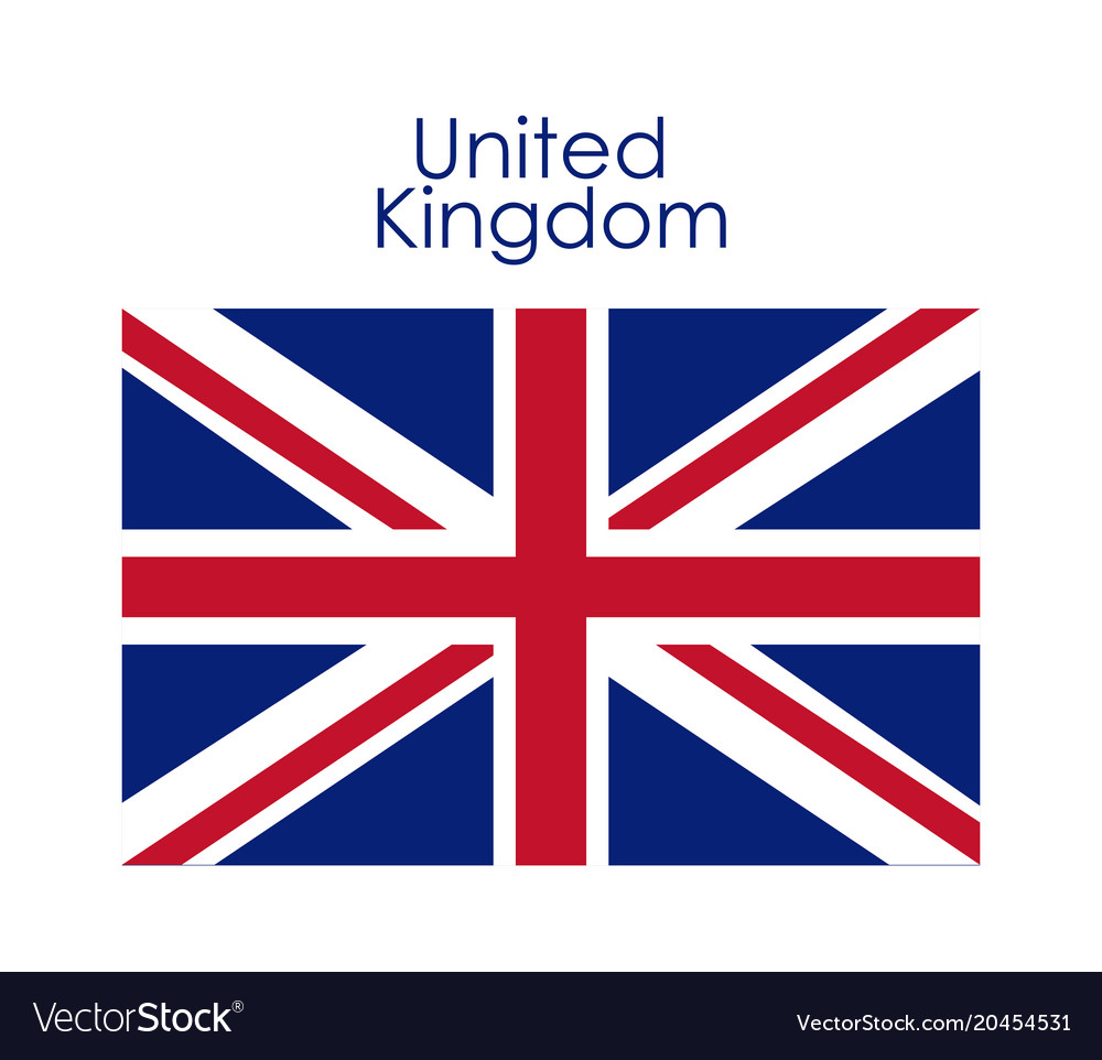 Isolated United Kingdom Flag Design Royalty Free Vector