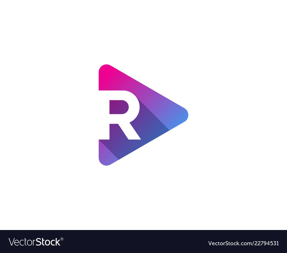 Media letter r logo icon design