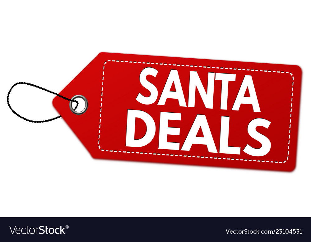 Santa deals label or price tag
