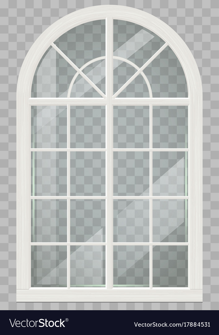 Wooden Arched Window Royalty Free