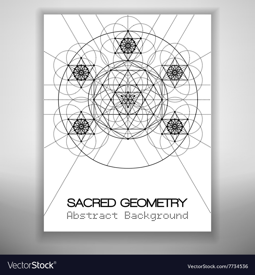 Abstract brochure template with sacred geometry