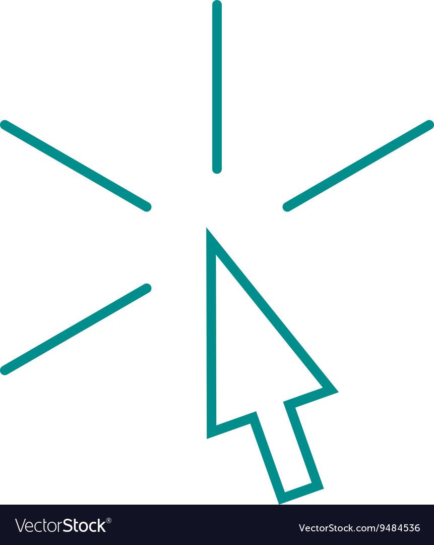 Arrow pointer mouse cursor art outline design vector image