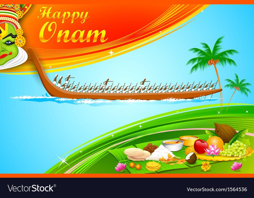 Onam Wallpaper vector image