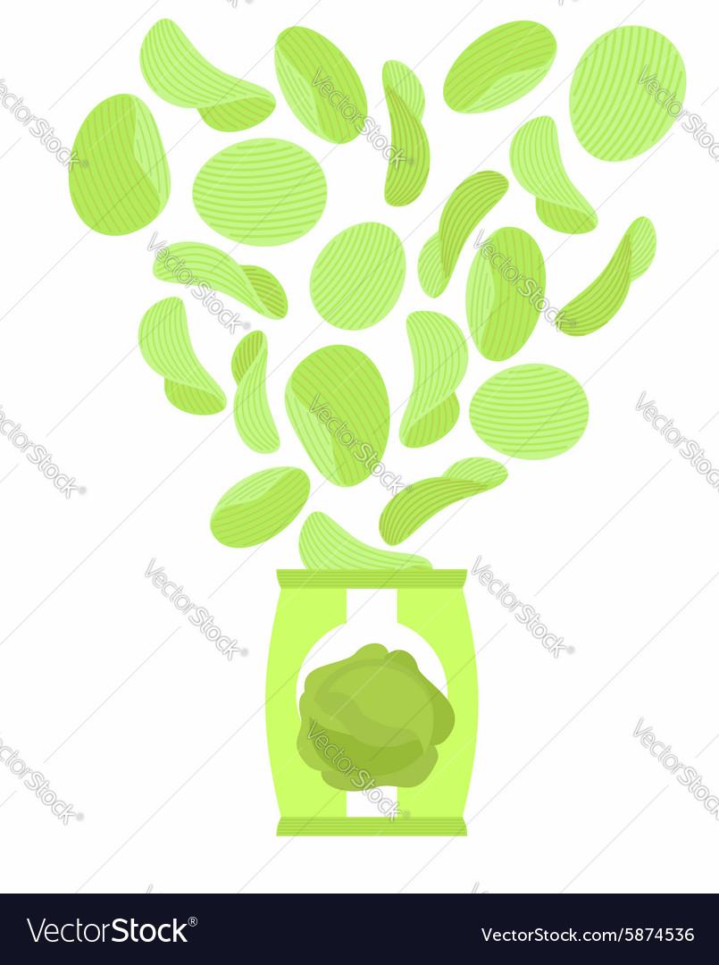 Potato chips taste like cabbage Packaging bag of