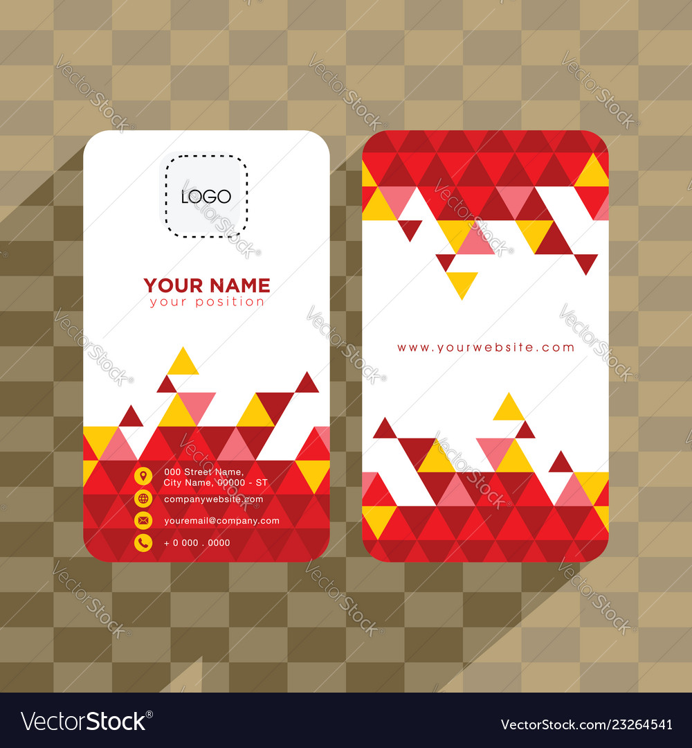 Abstract geometry business card