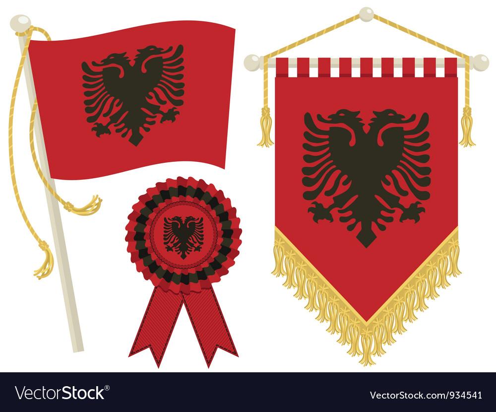 Albania flags