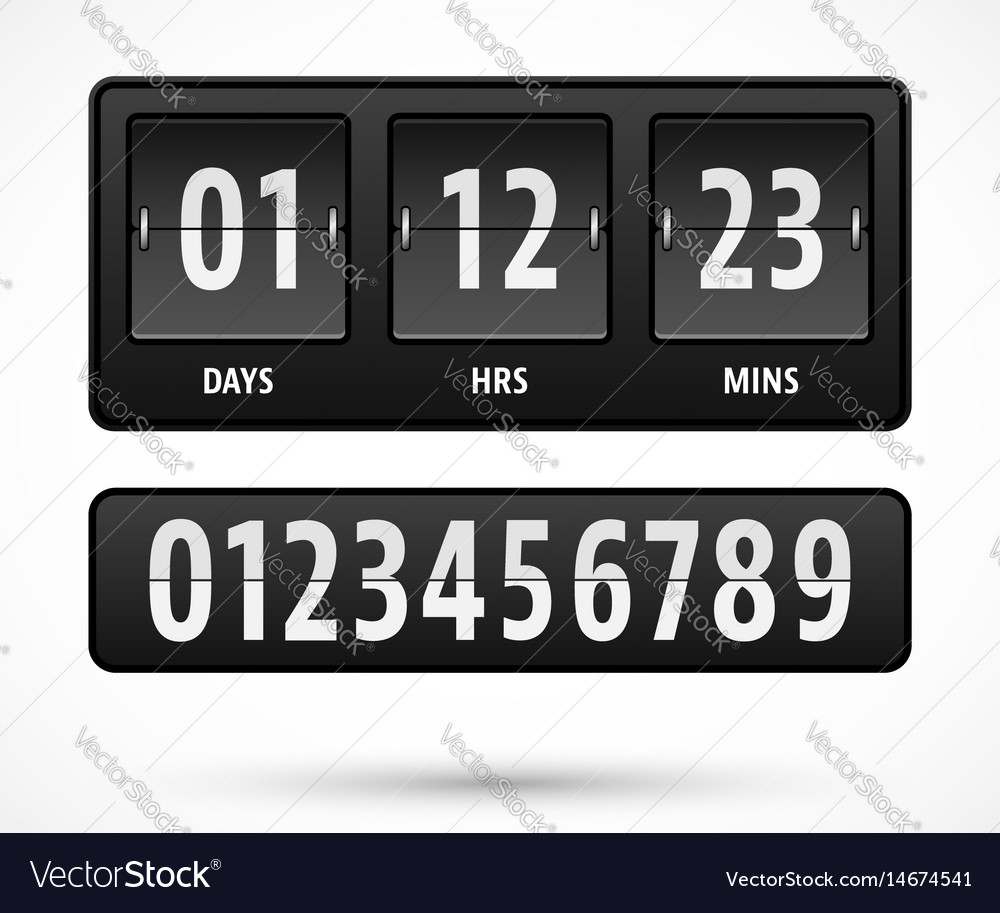 Countdown timer template Royalty Free Vector Image