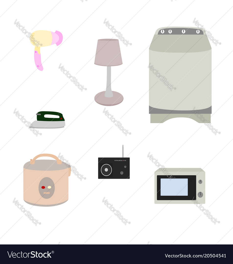 Electric appliance icon isolated