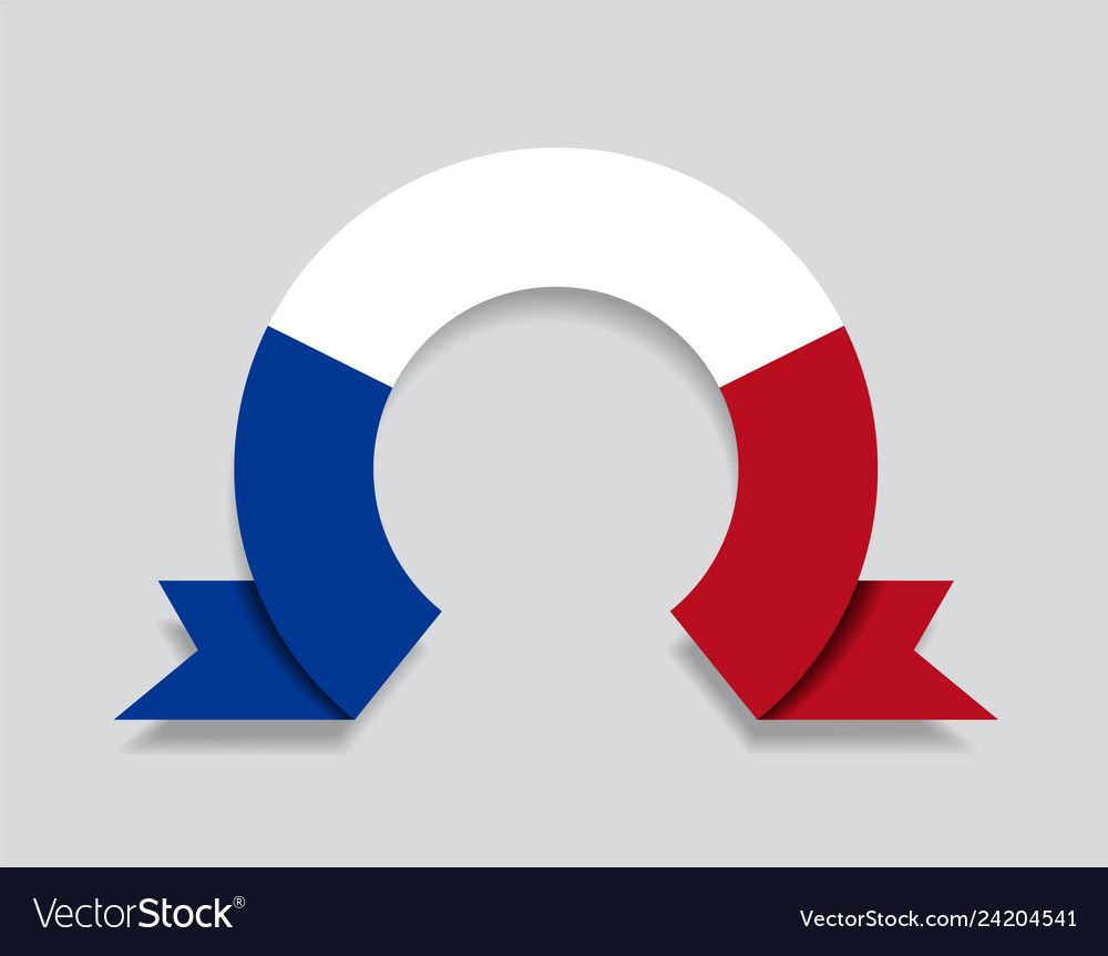 French flag rounded abstract background