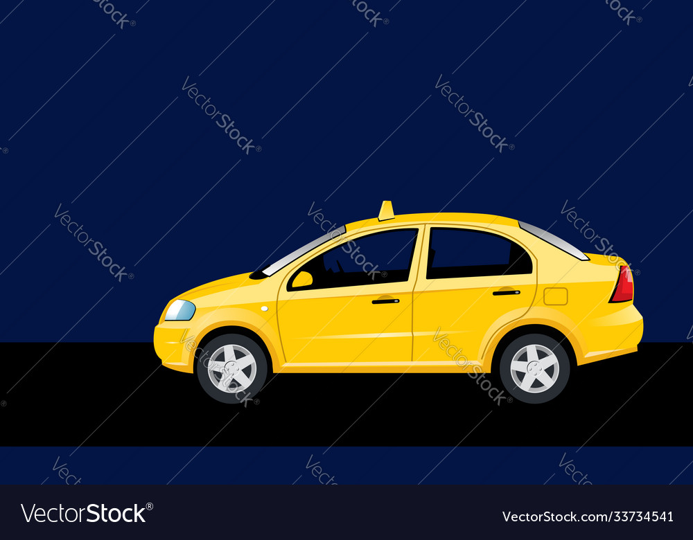 Night taxi travel car in night city