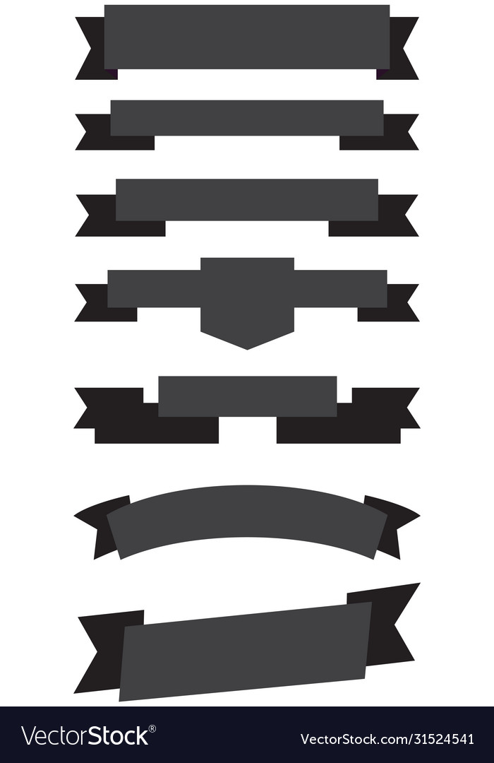 Old ribbon banner black