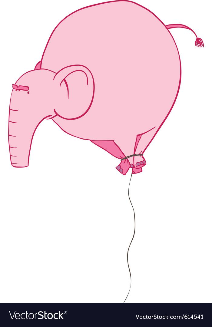 Pink elephant balloon vector image