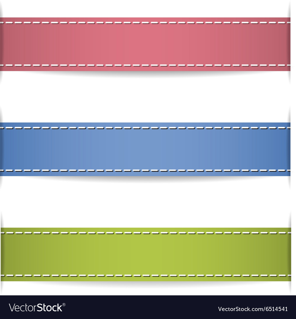 Ribbons with shadow vector image