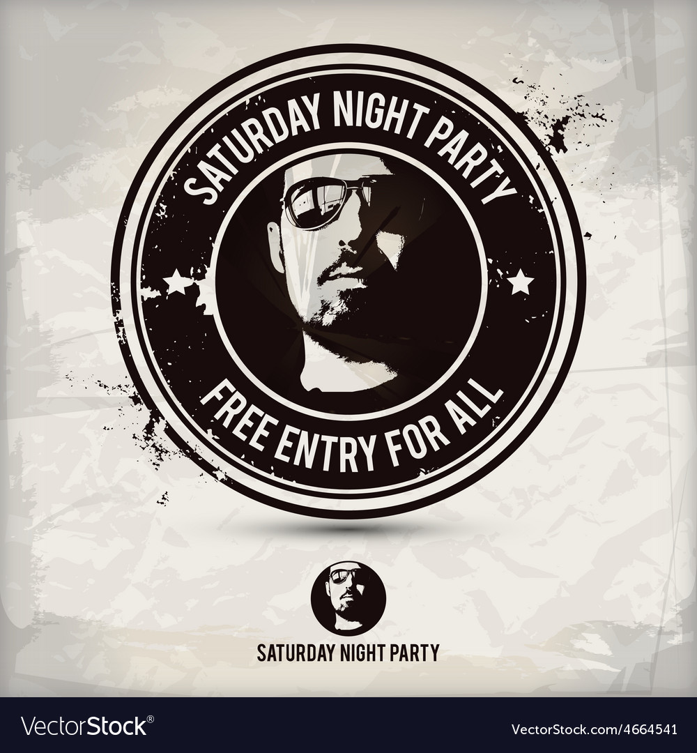 Saturday night party stamp
