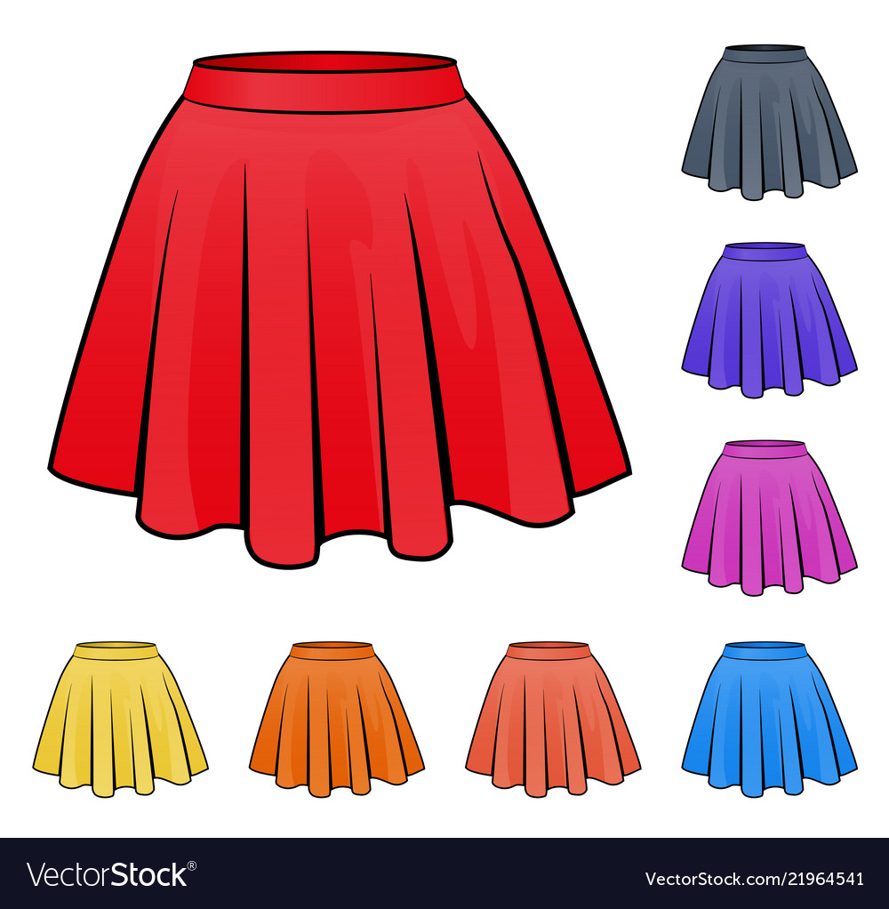Skirts set in various colors