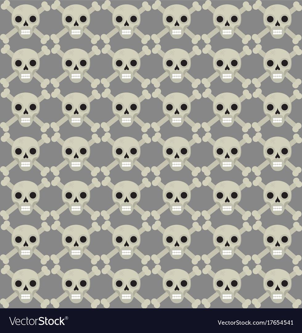 Skull and bones seamless pattern skeleton