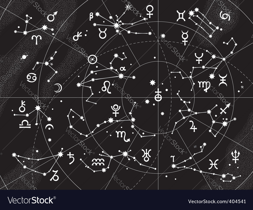 Xii constellations of zodiac vector image