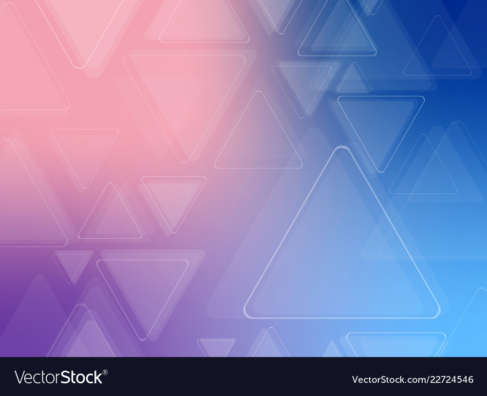 Abstract of futuristic colorful triangle pattern