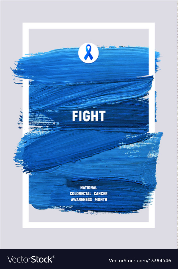 Colorectal cancer awareness creative grey and blue