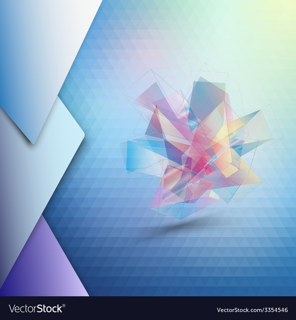 Colorful blue geometric background abstract