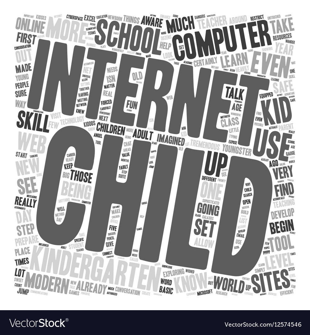 Computers for Kiddos 1 text background wordcloud