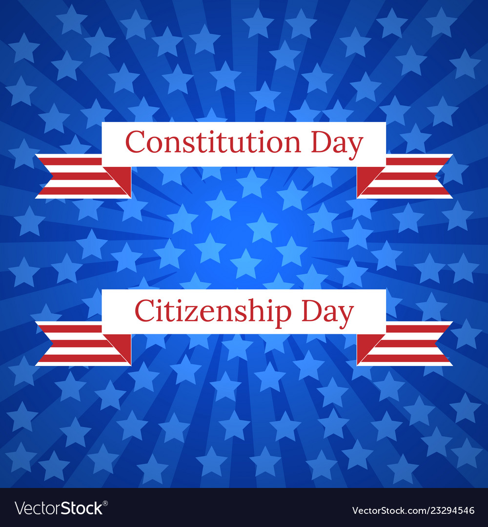 Constitution day and citizenship day in the Vector Image