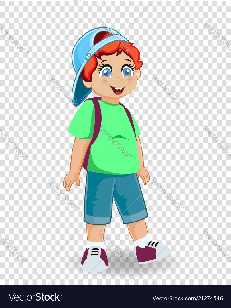 Cute smiling redhead ginger schoolboy with
