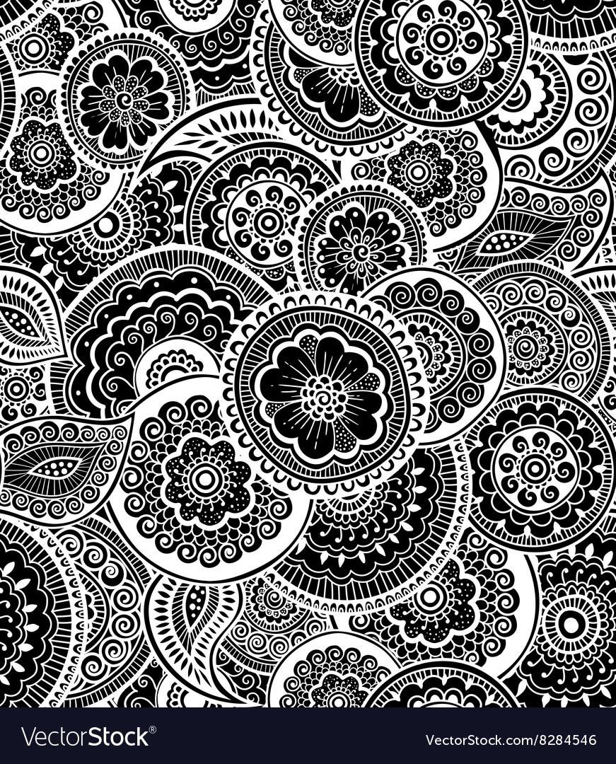 Decorative seamless pattern Zen-tagle style