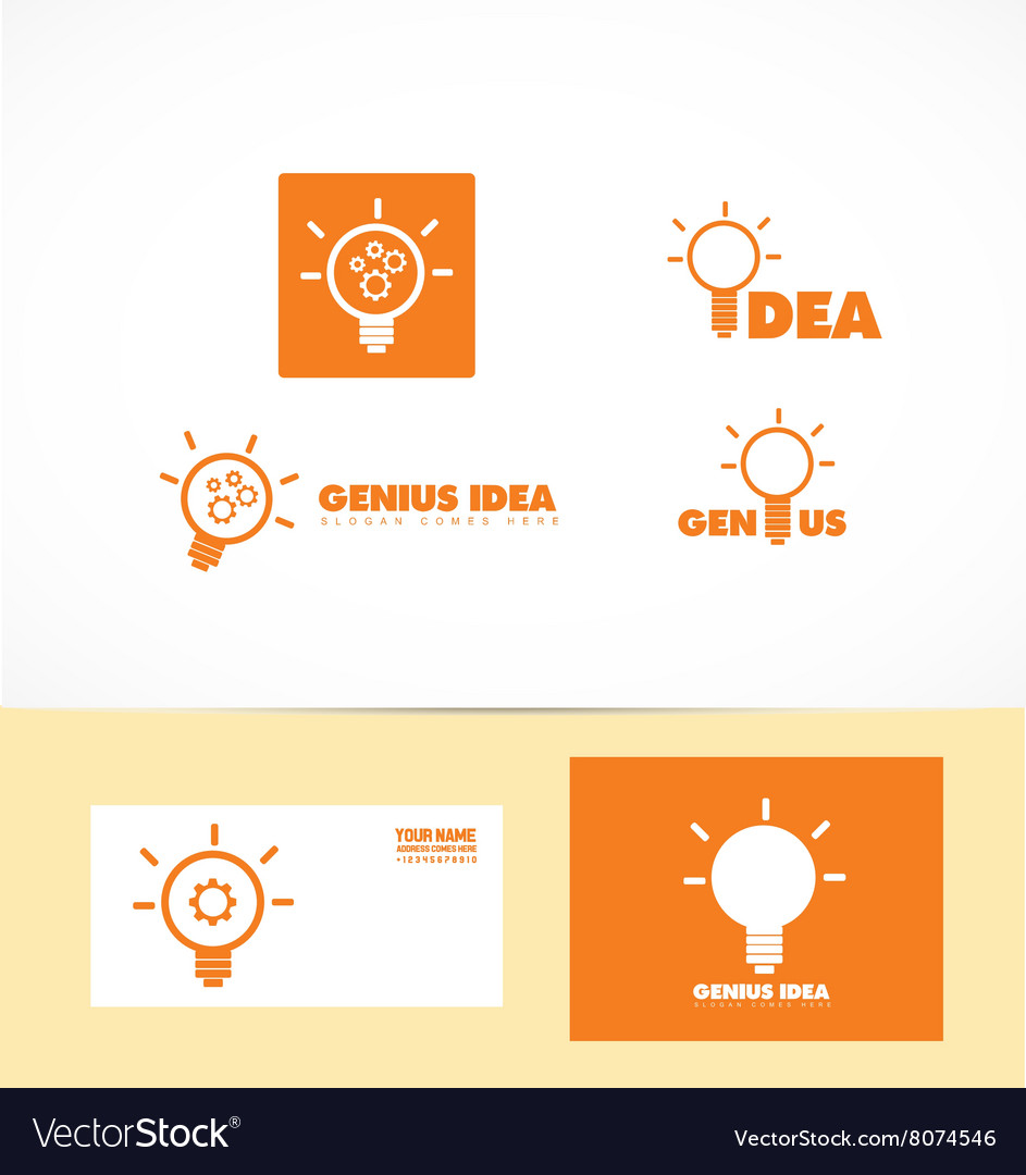 Genius idea light bulb logo