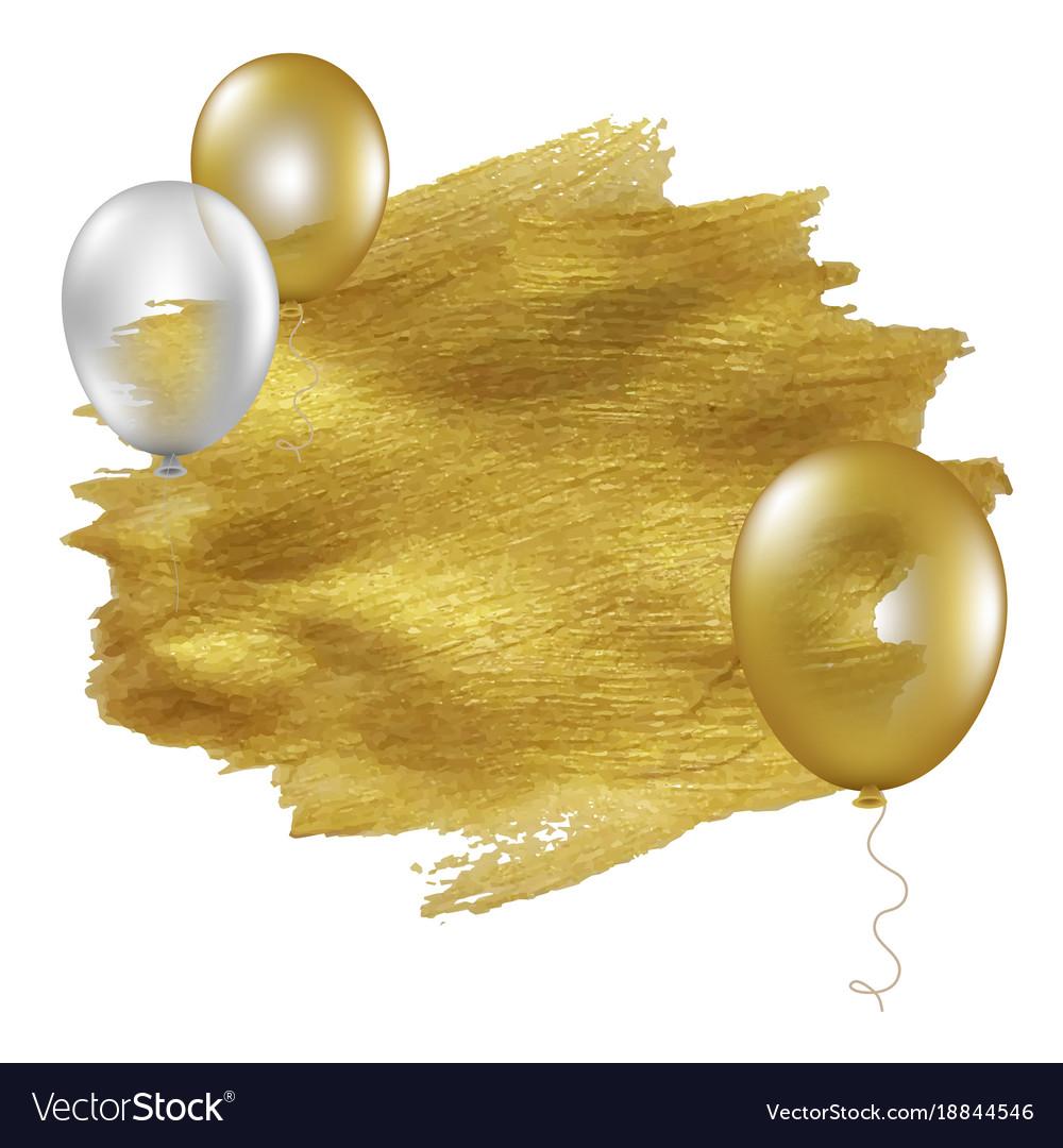 Golden blot with balloons