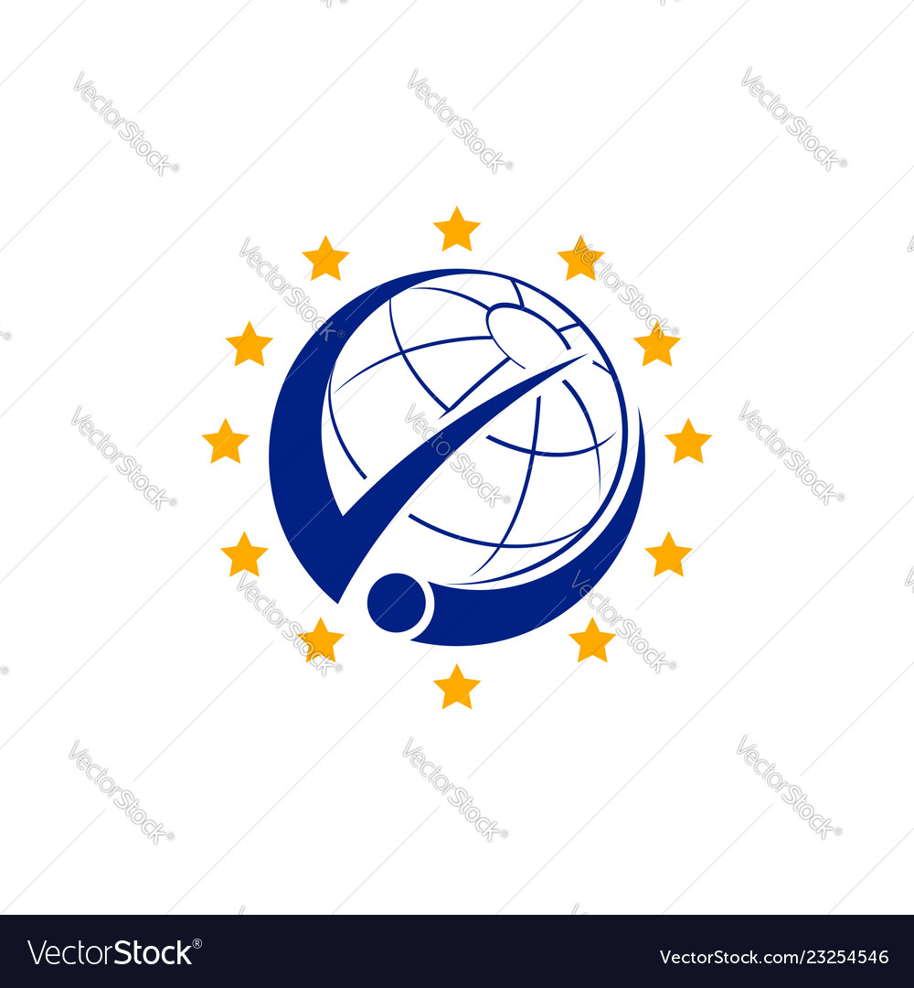 Man and planet logo combination people and world