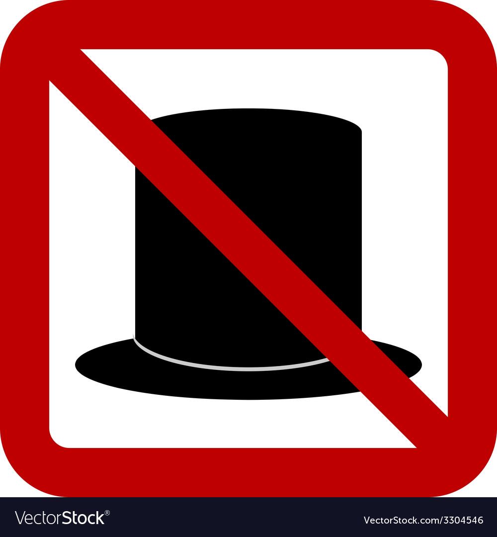 No hat sign
