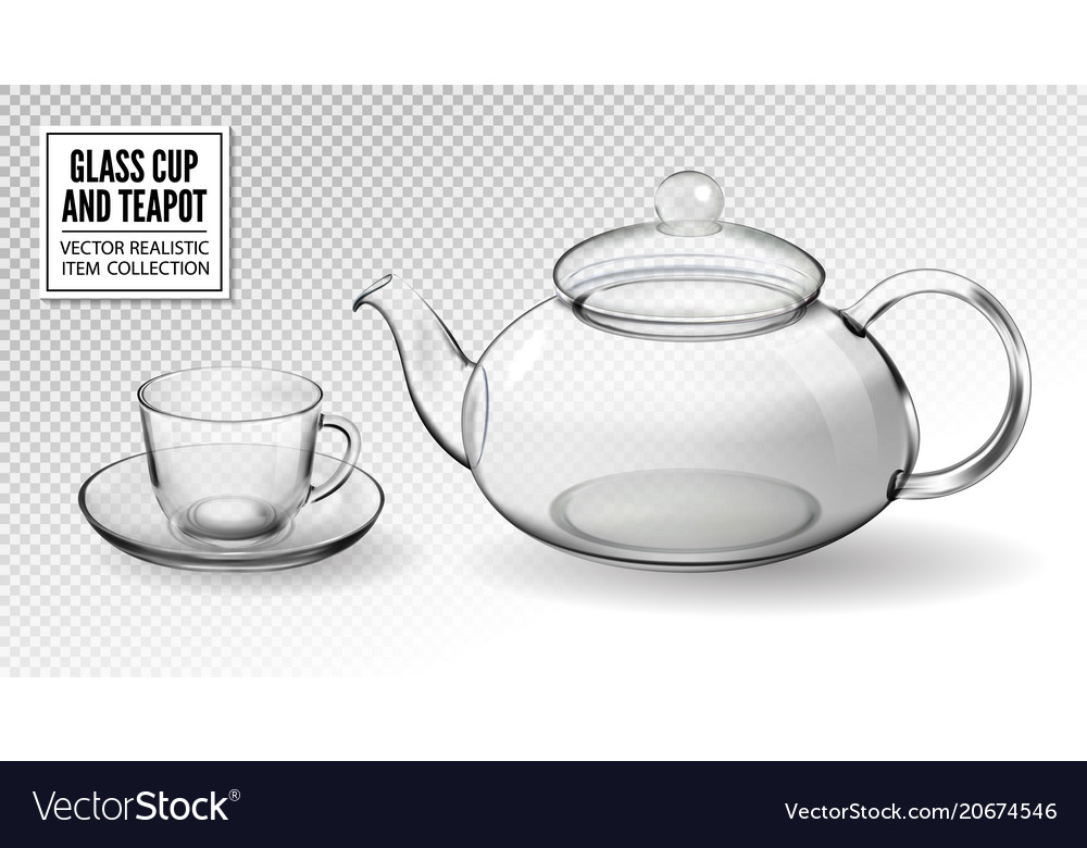 Tea Cups With Teapot Royalty Free Vector