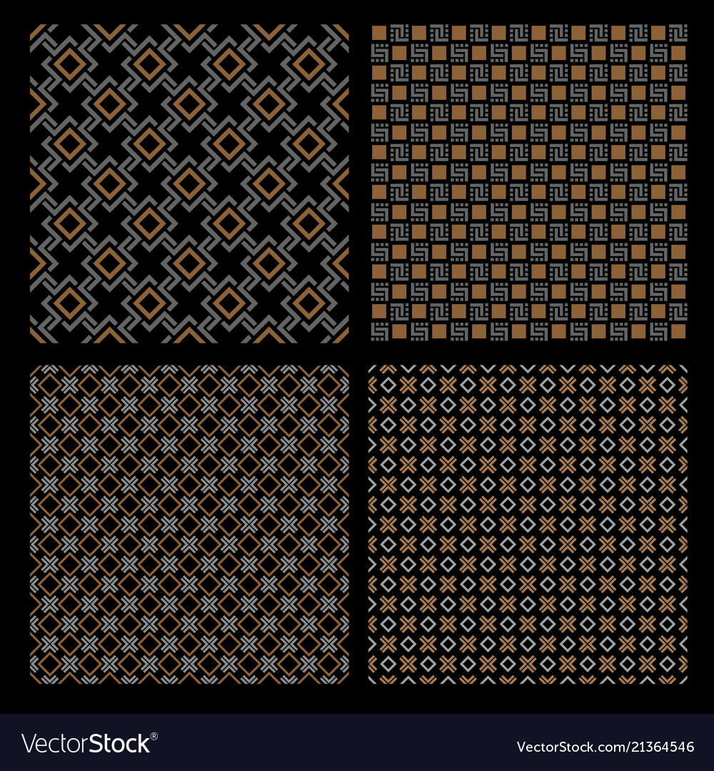 Set four geometric seamless patterns - celtic