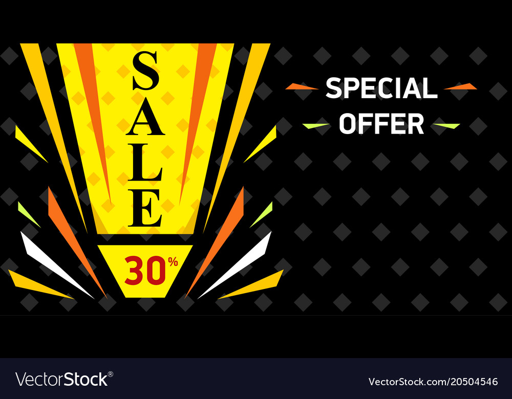 Web sale banner sale discount up to 30