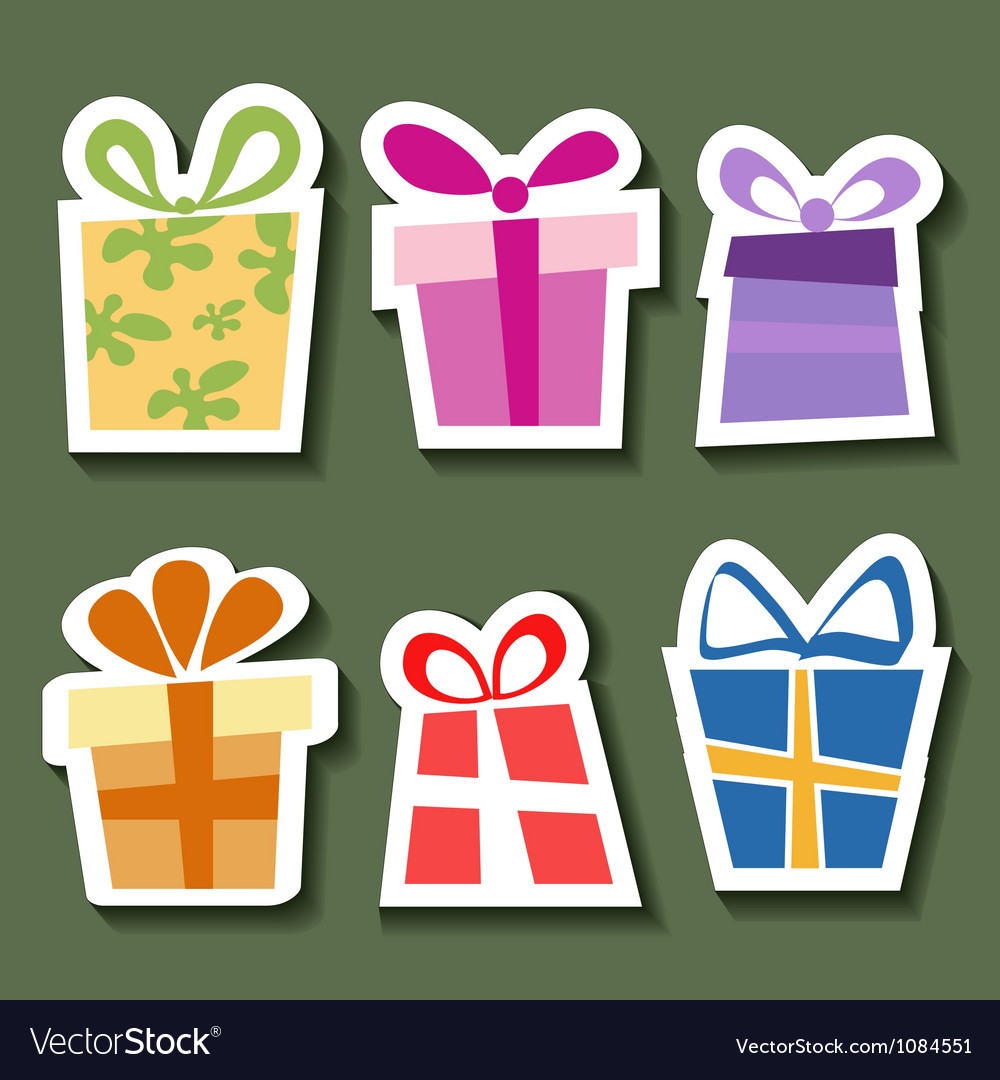 Abstract gift sticker set