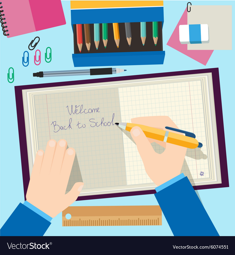 Back to school concept design Background with