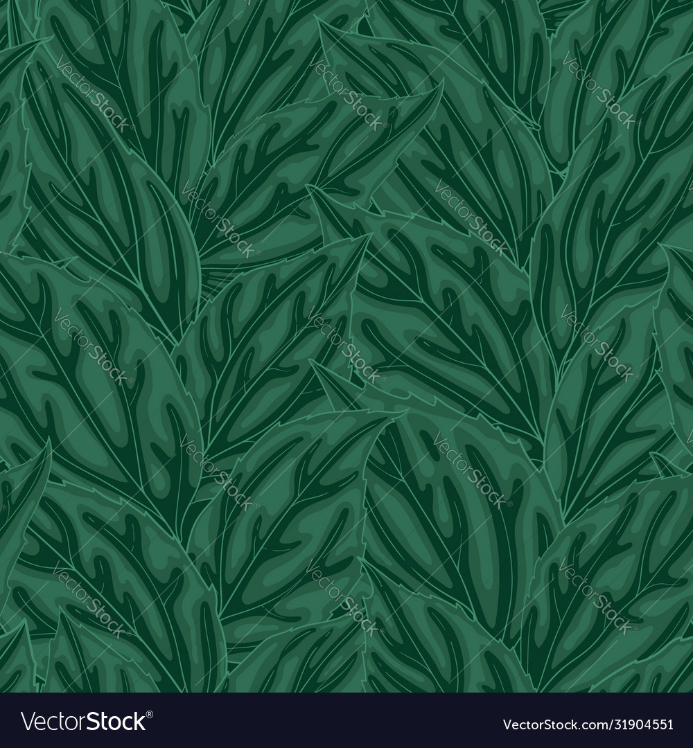 Beautiful seamless background with green leaves