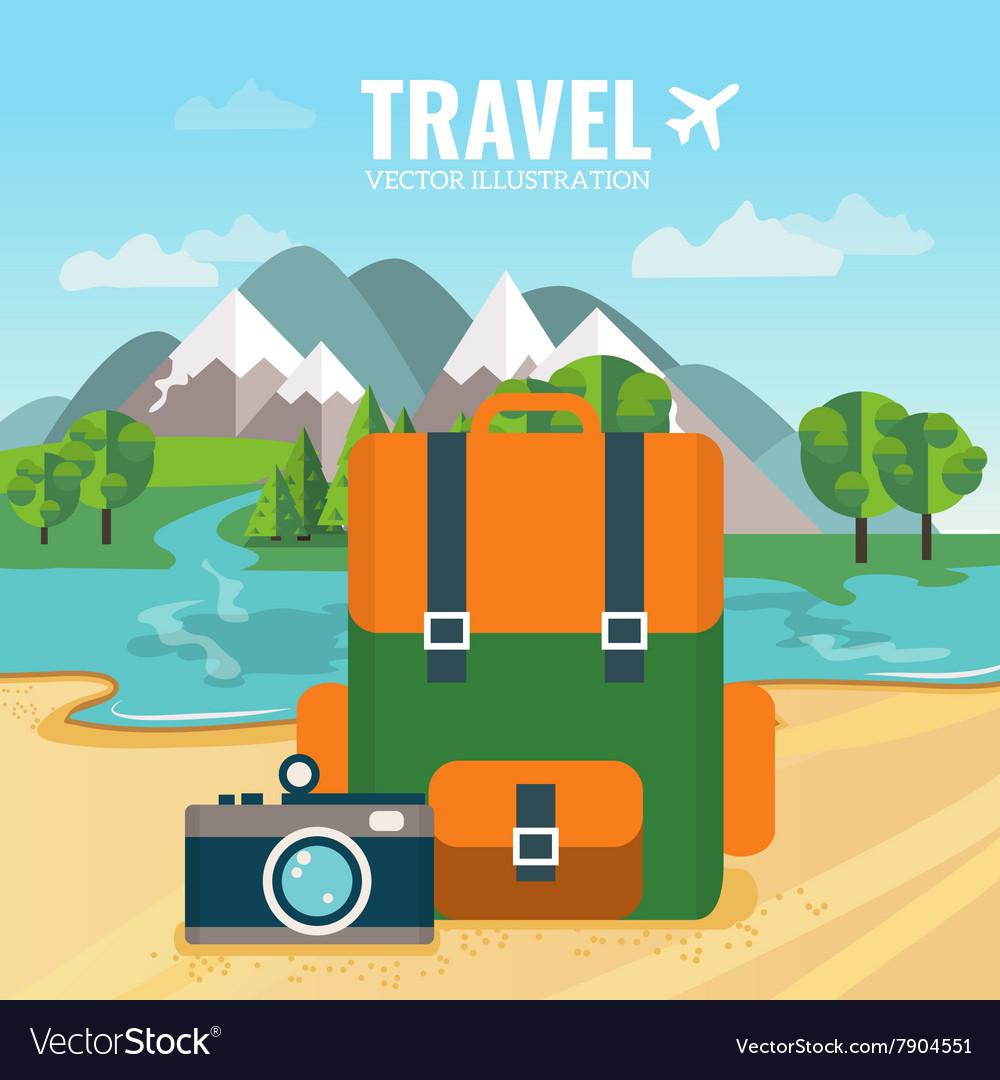 Camping backpack and camera