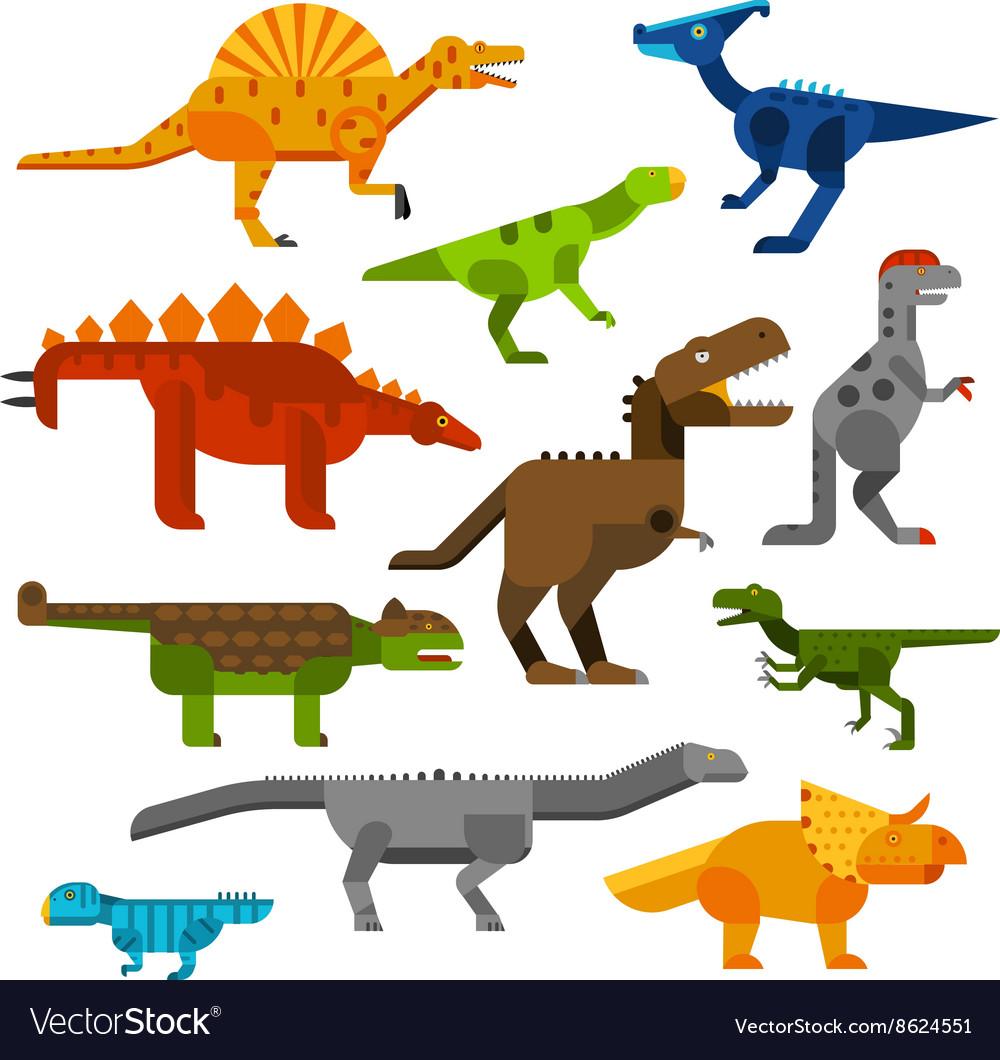 Cretaceous dinosaurs ground cartoon