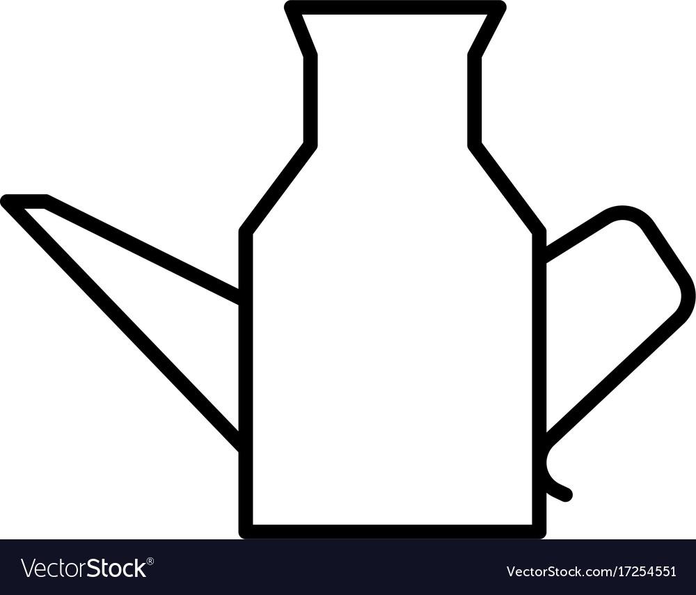Kitchen jug icon vector image