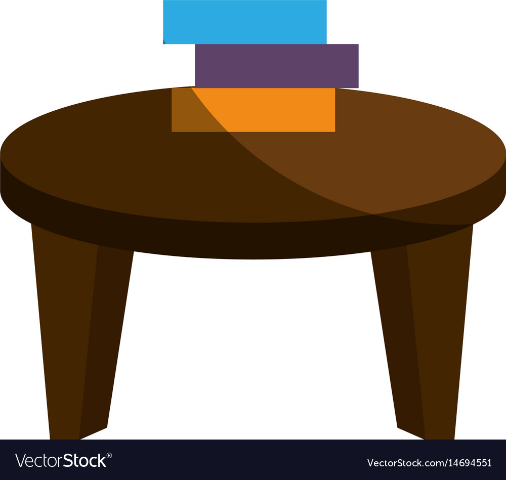 School table with books isolated icon