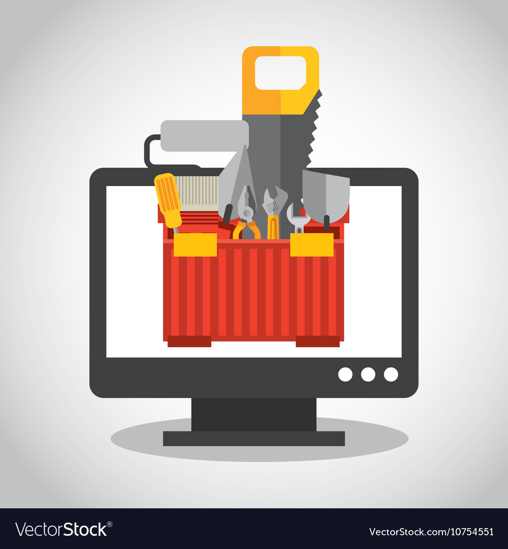 Web Page Under Construction Royalty Free Vector Image
