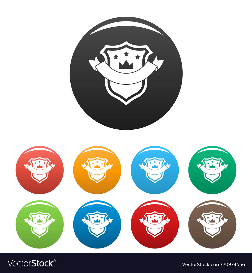 Badge quality icons set color