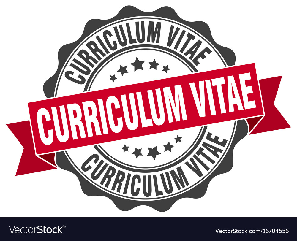 Curriculum Vitae Stamp Sign Seal Royalty Free Vector Image