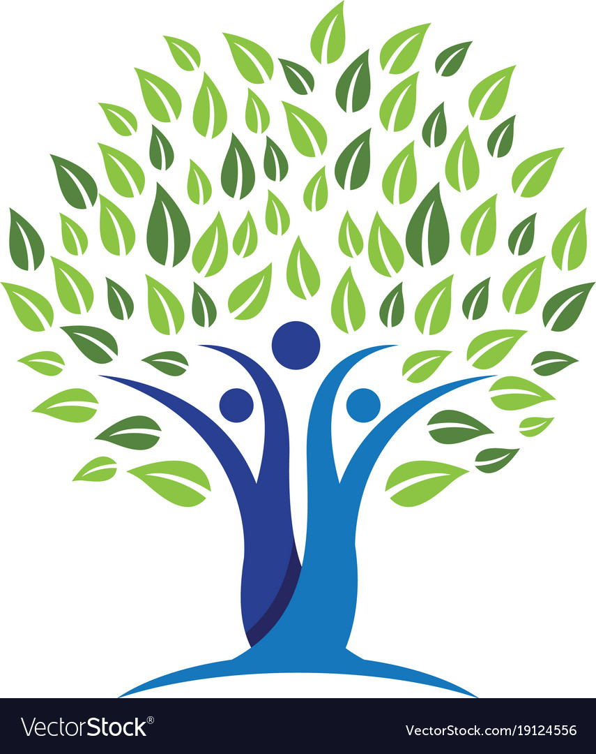 Family Tree Symbol Icon Design Royalty Free Vector Image