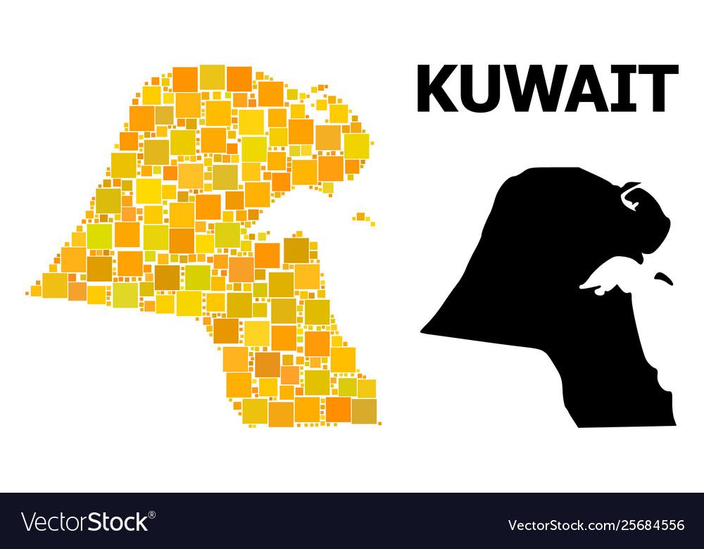Golden square mosaic map kuwait