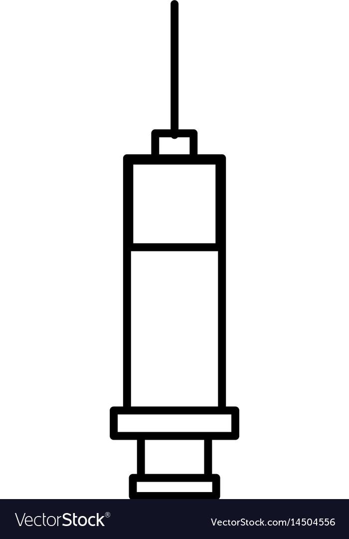 Injection syringe isolated icon
