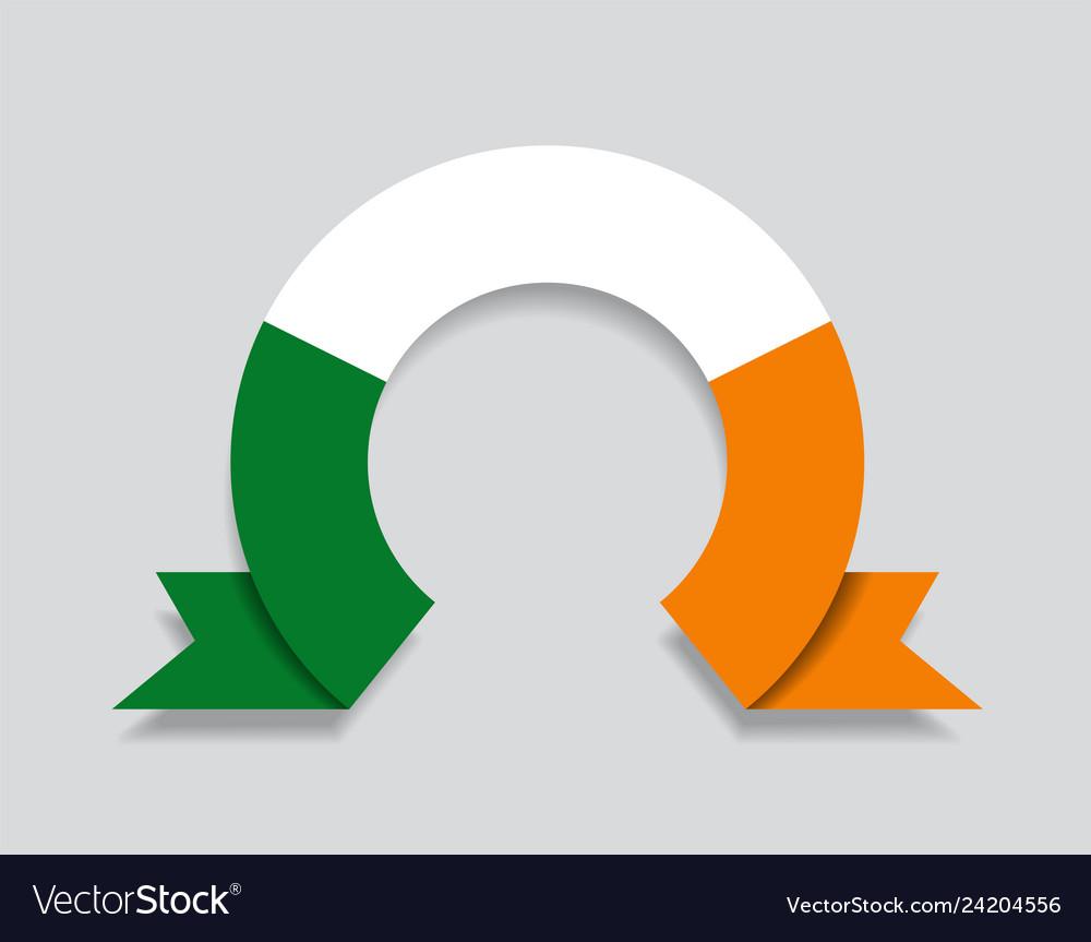 Irish flag rounded abstract background