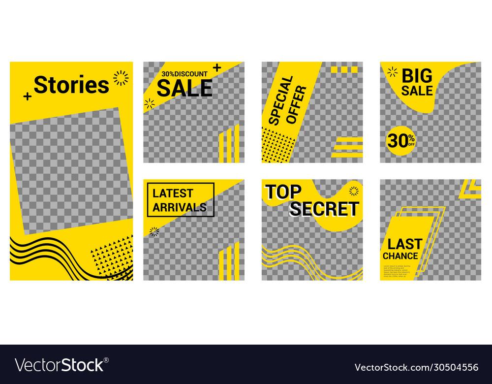 Modern design square web banner for social media